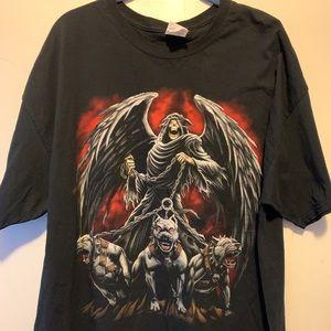 Size 2XL Graphic T-Shirt Dark Skeleton